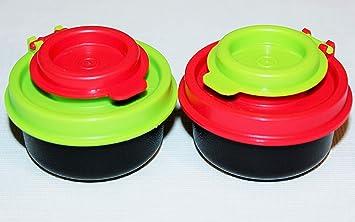 Tupperware RED Smidget Salt and Pepper Shaker SET ALL RED SET NEW BPA FREE SHIP