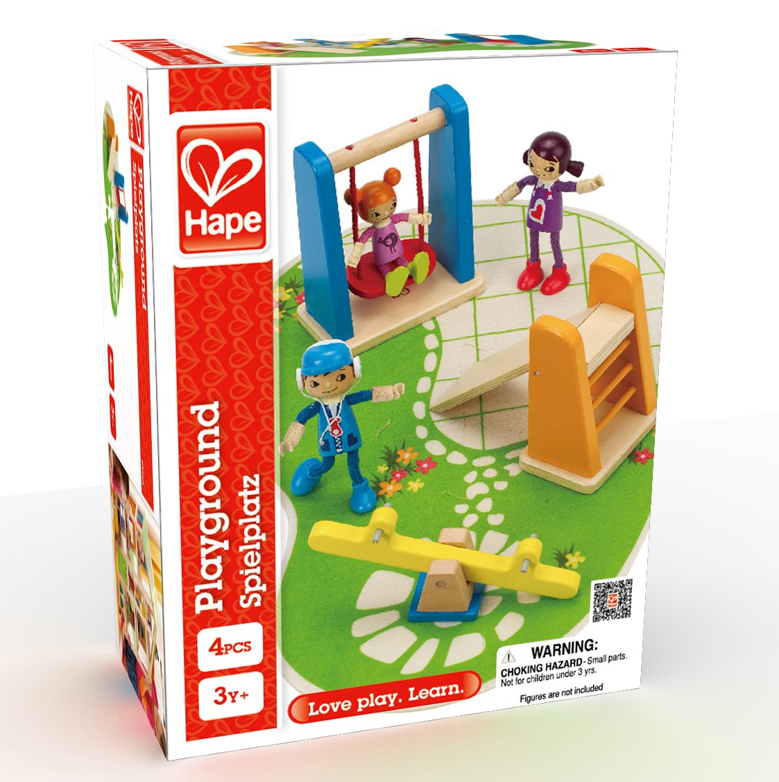 Hape E3461  Wooden Doll House Furniture Playground Set And Accessories Doll House Accessories, by Hape