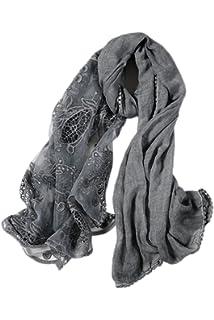 8c975ffc9972 La Femme Est Vintage Ultra - Léger Lace Simple Patchwork Wrap Châle Longue  Écharpe