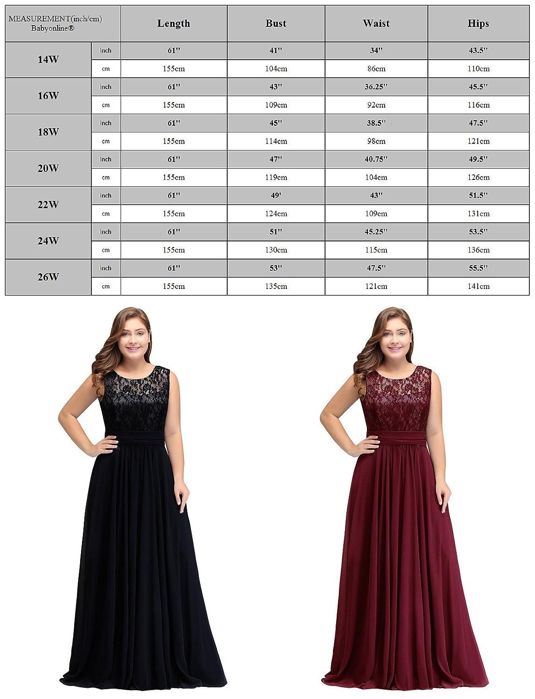 9bd998db4b13b8 Babyonline Women Chiffon Long Mother of The Bride Dresses Plus Size Prom  Dresses at Amazon Women s Clothing store
