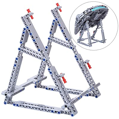 Lingxuinfo Moc Vertical Stand Bracket Holder Compatible with Lego Millennium Falcon 75105 ( Only Included The Stand ): Toys & Games
