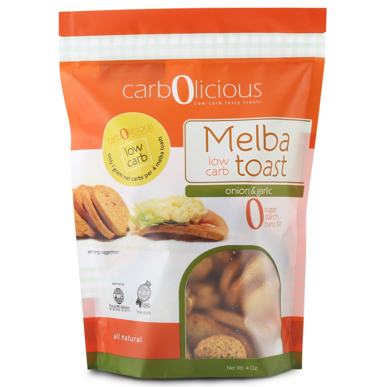 Low Carb Melba Toast (ONION & GARLIC) 4 oz. by carb-o-licious