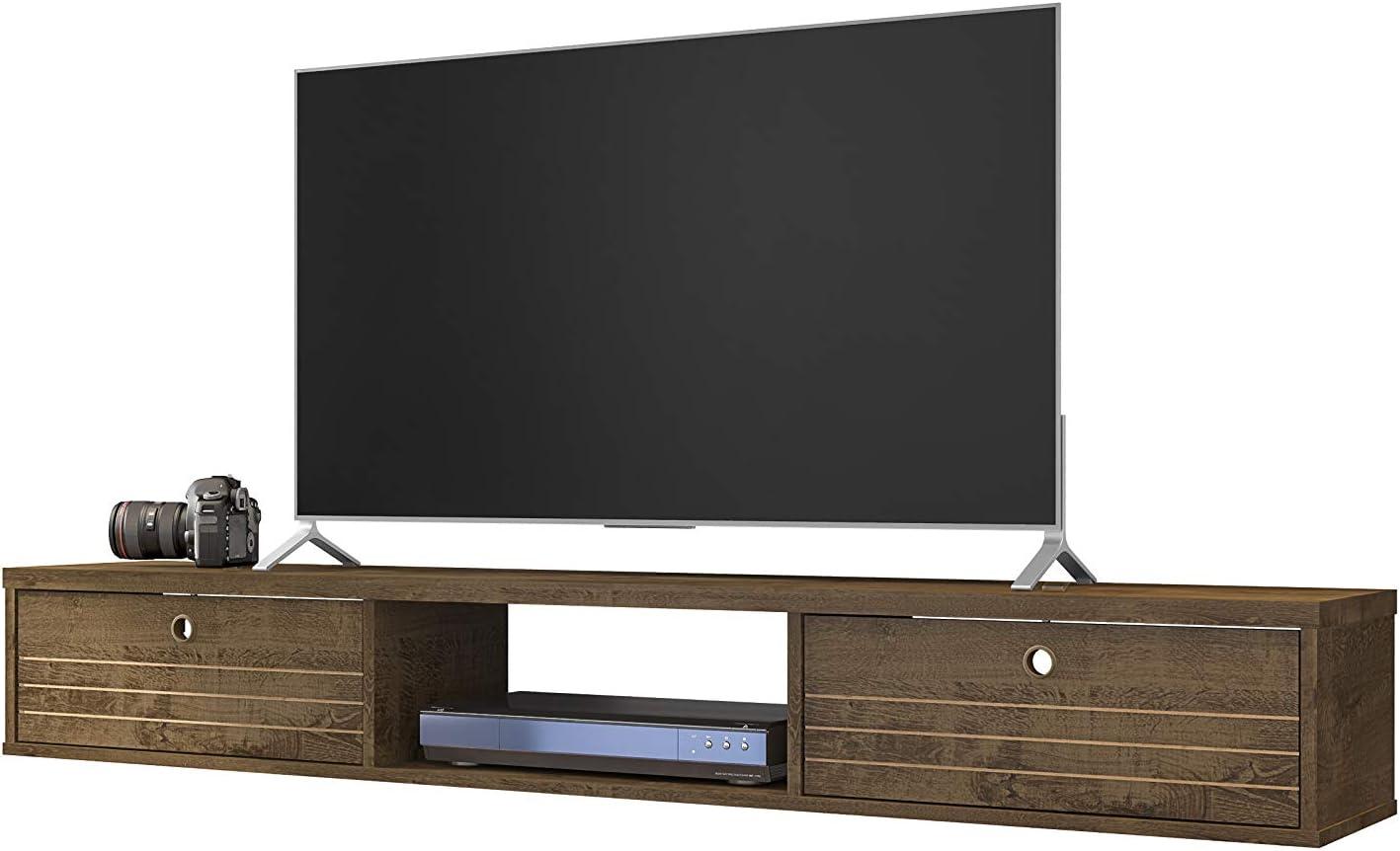 9 - Best Contemporary Floating TV shelf: Manhattan Contemporary Wall Mounted Shelf
