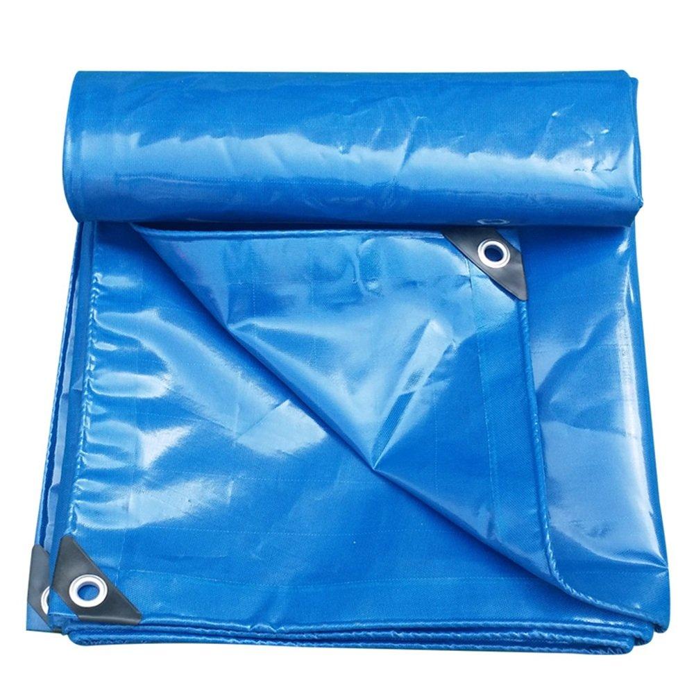 テントの防水シート ターポリンブルーのストライプ防水日保護シェードトラックの防水袋0.4ミリメートル-420グラム/m² それは広く使用されています (色 : 青, サイズ さいず : 5 x 7m) B07D21QTLD 5x 7m|青 青 5x 7m