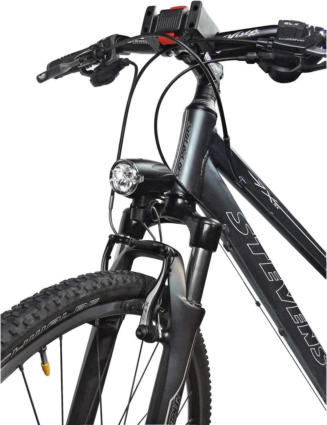 26 mm schwarz//silber Fahrrad BikeParts Batterieleuchten-Halter f Gabelbrücke D
