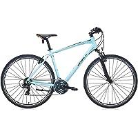 Carraro Bisiklet Sportive 220 Erkek Şehir 28 Jant 457H 21 Vites Vb Fren Mat Açik Mavi̇ Si̇Yah Turuncu Unisex, Mavi, Standart