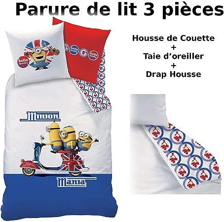 Housse de Couette 140x200 Les Minions Scooter