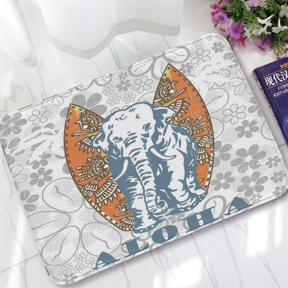 Elephant In Room That Needs To Be >> Amazon Com Yoliyana Short Fur Floor Mat Elephants Decor For Home