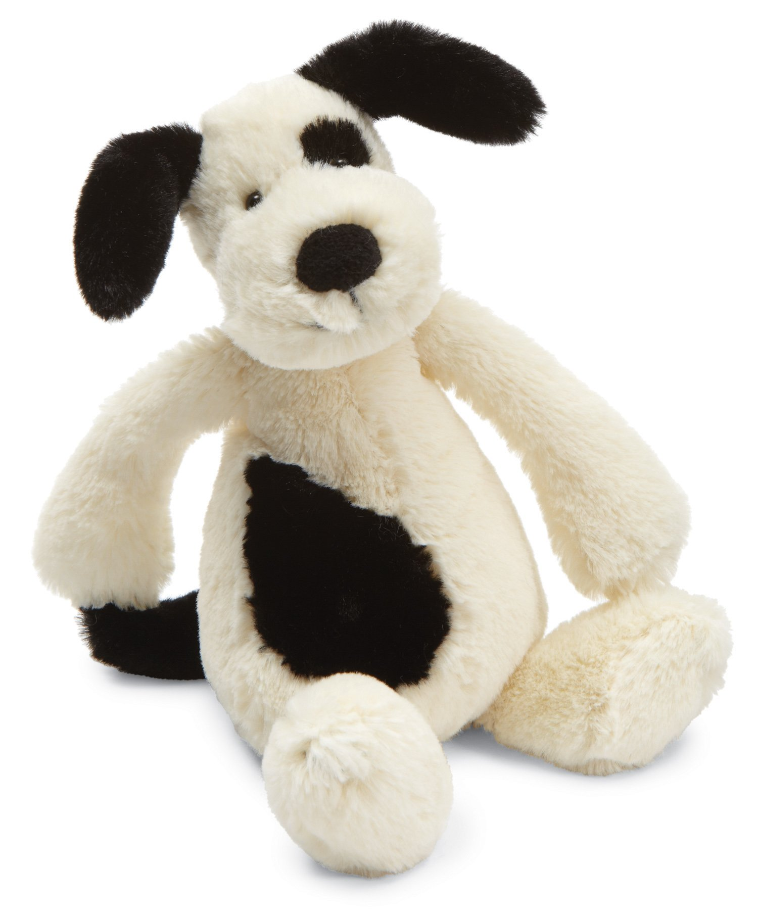 Jellycat Bashful Black and Cream Puppy, Small, 7 inches
