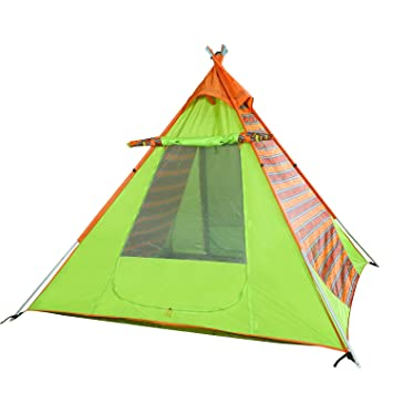 WolfWise 4-Person Teepee Tent C&ing Family Tent Kids Playhouse  sc 1 st  Amazon.com & Amazon.com : WolfWise 4-Person Teepee Tent Camping Family Tent ...