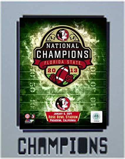 11-Inch by 14-Inch Encore Select 925-49 NCAA Florida State Seminoles Championship Mat