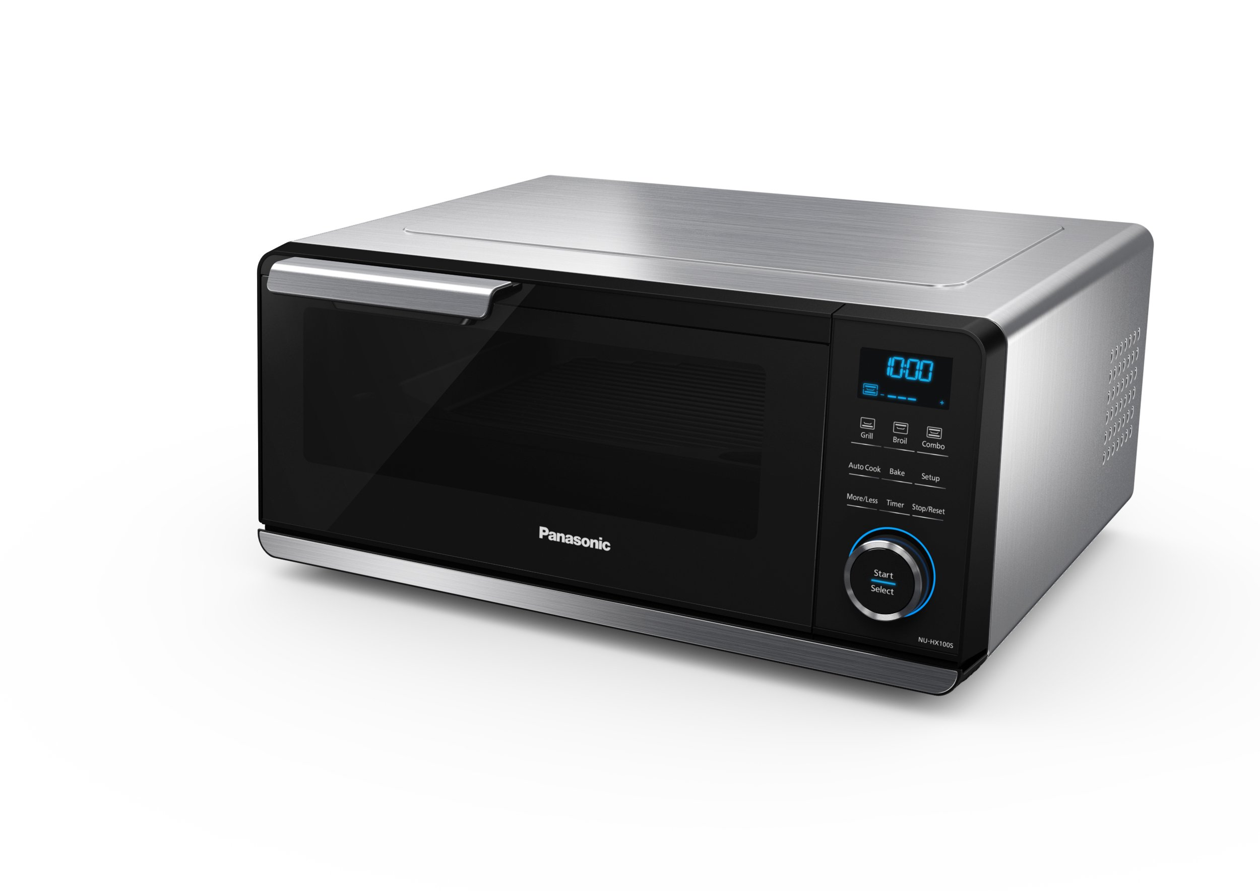 Panasonic NU-HX100S Countertop Oven & Indoor Grill with Induction Technology (IH) and Infrared Heat, Stainless Steel