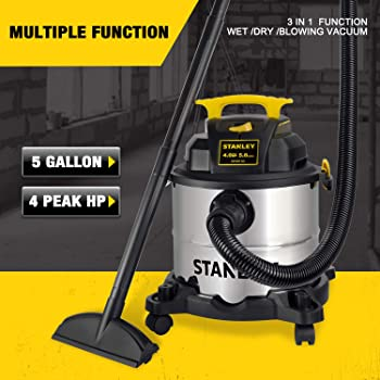 Stanley 5 Gallons 3 in 1 Small Shop Vac