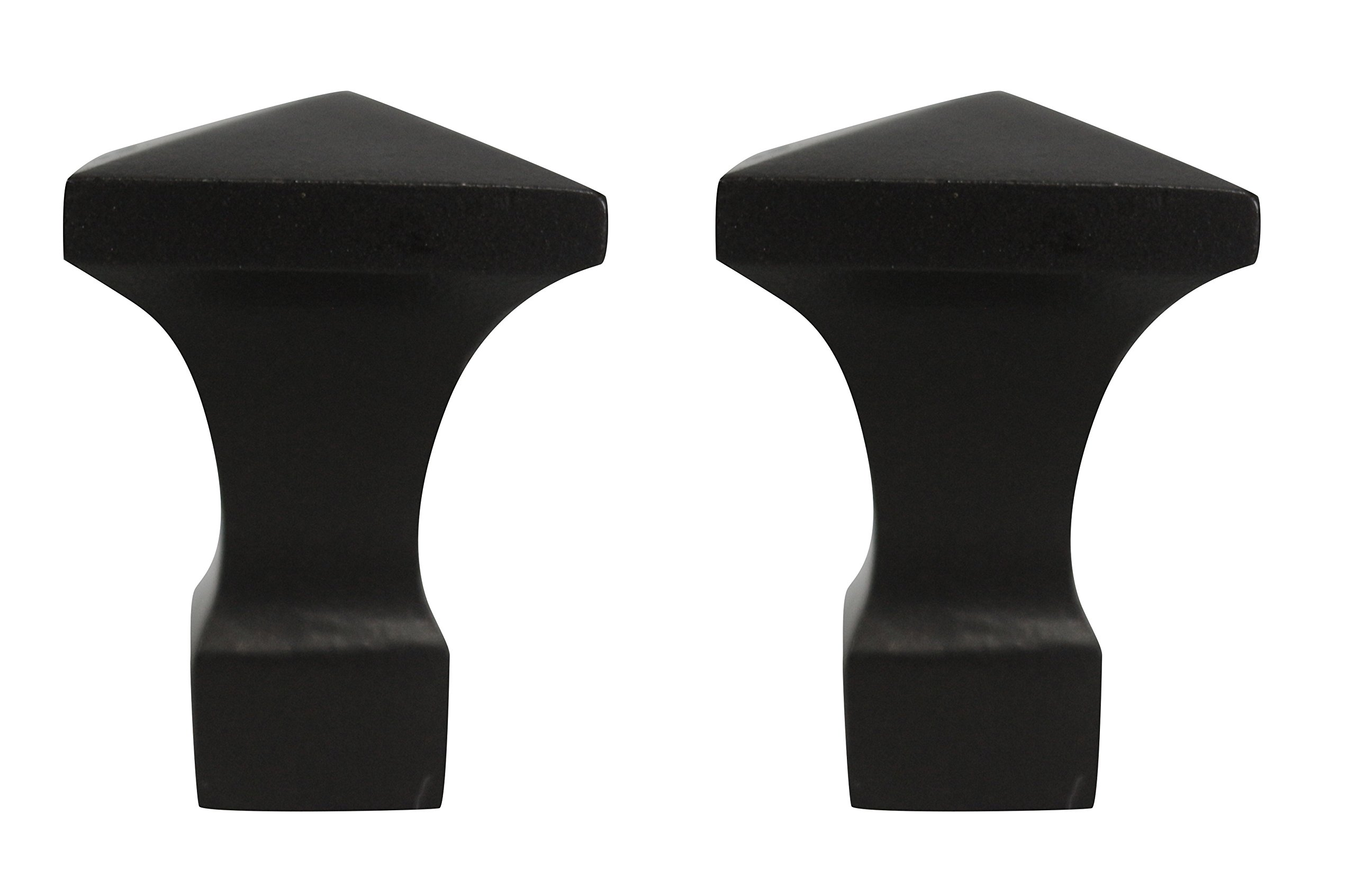 Urbanest Set of 2 Semoy Finial, 1 7/8-inch Tall, Oil-Rubbed Bronze