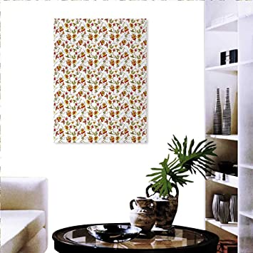 Amazon Com Warm Family Flower Background Wall Stickers Vintage