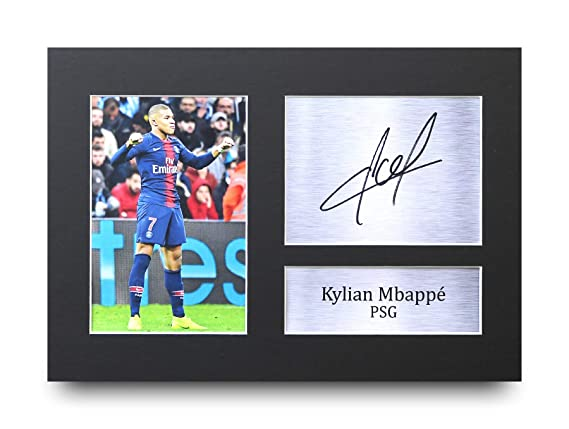 HWC Trading Kylian Mbappe Gift Signed A4 Printed Autograph Paris  Saint-Germain PSG Gifts Print Photo Picture Display  Amazon.co.uk  Kitchen    Home 11481c54e