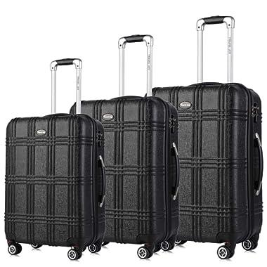 Expandable Spinner Luggage Set,TSA lightweight Hardside Luggage Sets, 20  24 28 inches Carry On Luggage