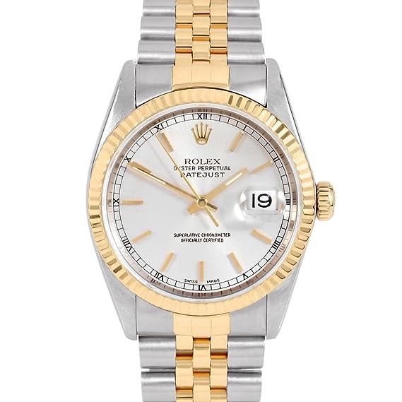 Rolex para hombre 36 mm inoxidable acero & amarillo oro Datejust swiss-automatic reloj –