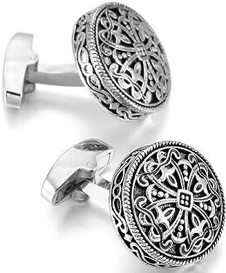 Round Celtic Cross Design Cufflinks