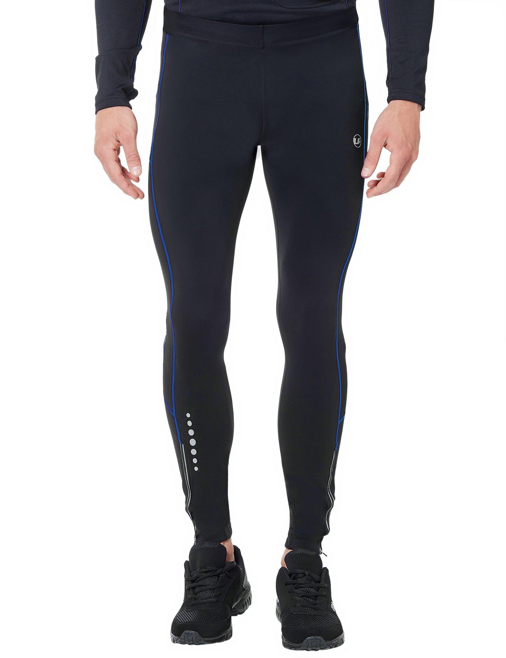 d4e7a8c76 Ultrasport Pantalones largos de correr para hombre, con efecto de compresión  y función de secado
