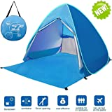 LingAo Automatic Pop Up Beach Tent,Sun Shelter Cabana 2-3 Person UV Protection Beach Shade for Outdoor Activities