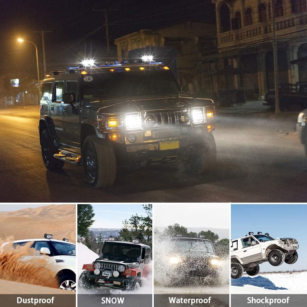 WZTO Focos LED Tractor Moto Barco ATV Off-Road Focos de Coche para SUV Cami/ón 18W Faros Trabajo LED 12V-24V Barra UTV