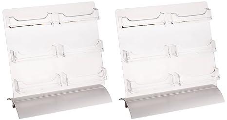 displays2go set of 2 6 pocket business card rack and gift card display holder - Card Display Holder