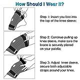 Nvorliy Knee Sleeve Plus Size for Large Leg
