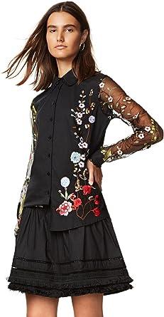 Desigual - Blusa para Mujer con Bordado romántico y Flores, Talla ...