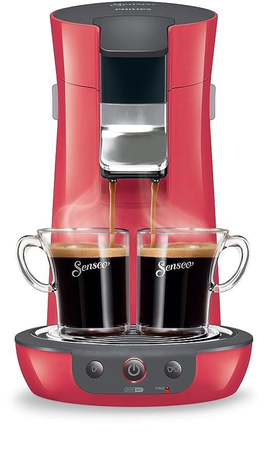 Philips HD7825/82 - Cafetera de cápsulas, 1450 W, color rojo y negro
