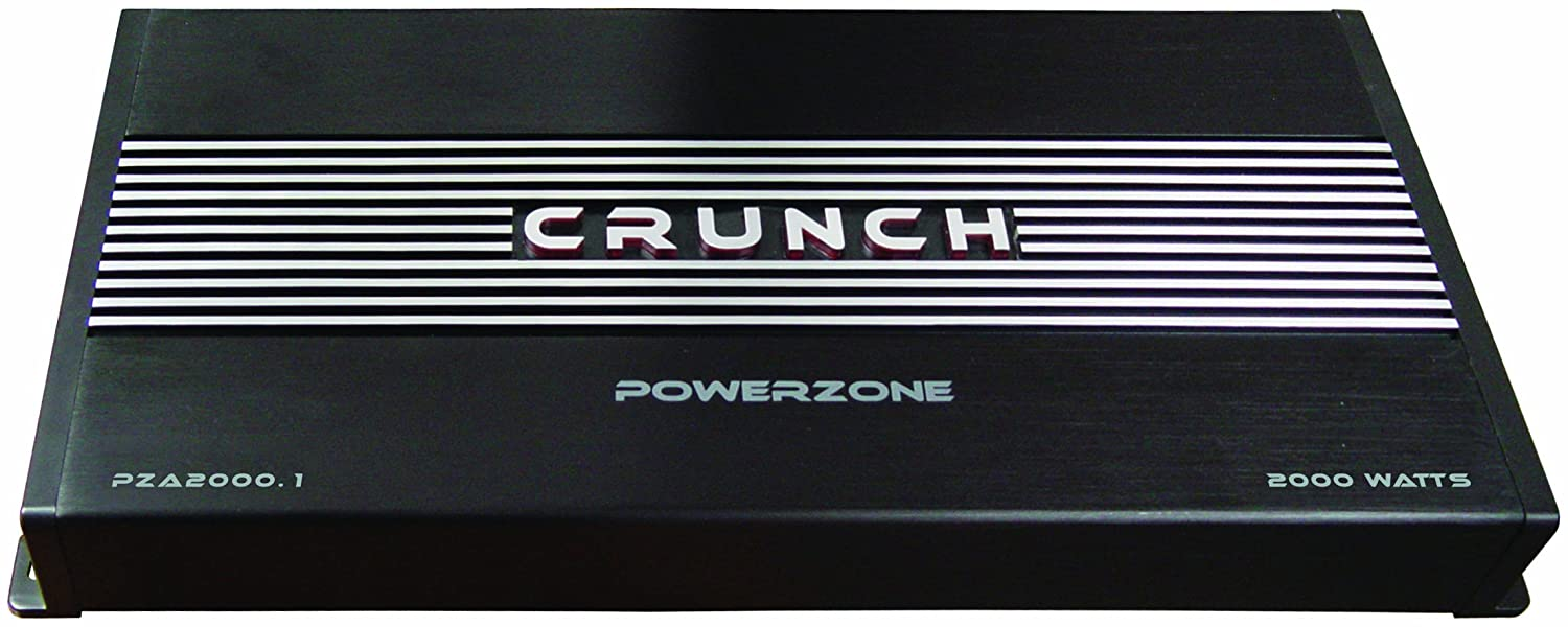 Crunch Power Zone Pza20001 Mono Channel Amplifier 500 X Speakers Wired In Parallel Recommended Stable At 1 Ohm 4 Ohms 1000 2 2000 With Illuminated Badge Car Electronics