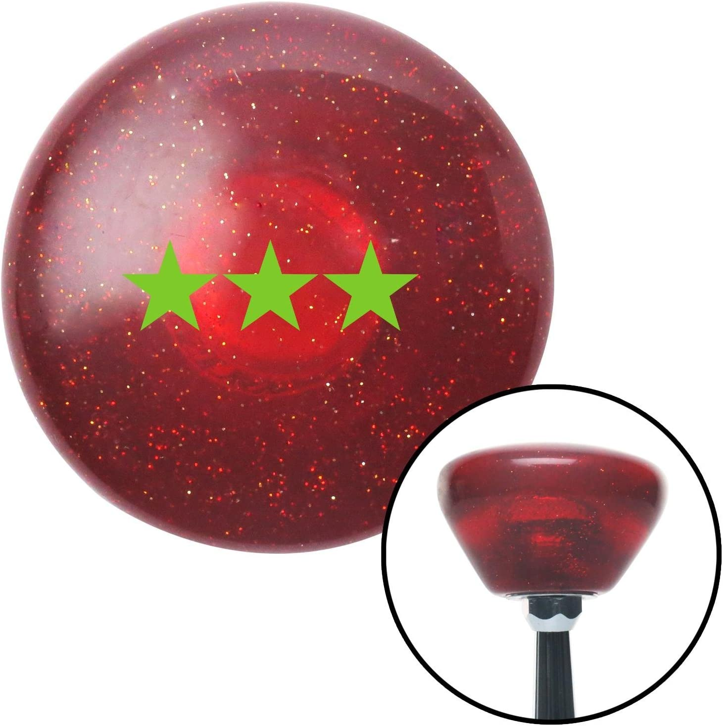 American Shifter 198917 Red Retro Metal Flake Shift Knob with M16 x 1.5 Insert (Green Officer 09 - Vice Admiral)