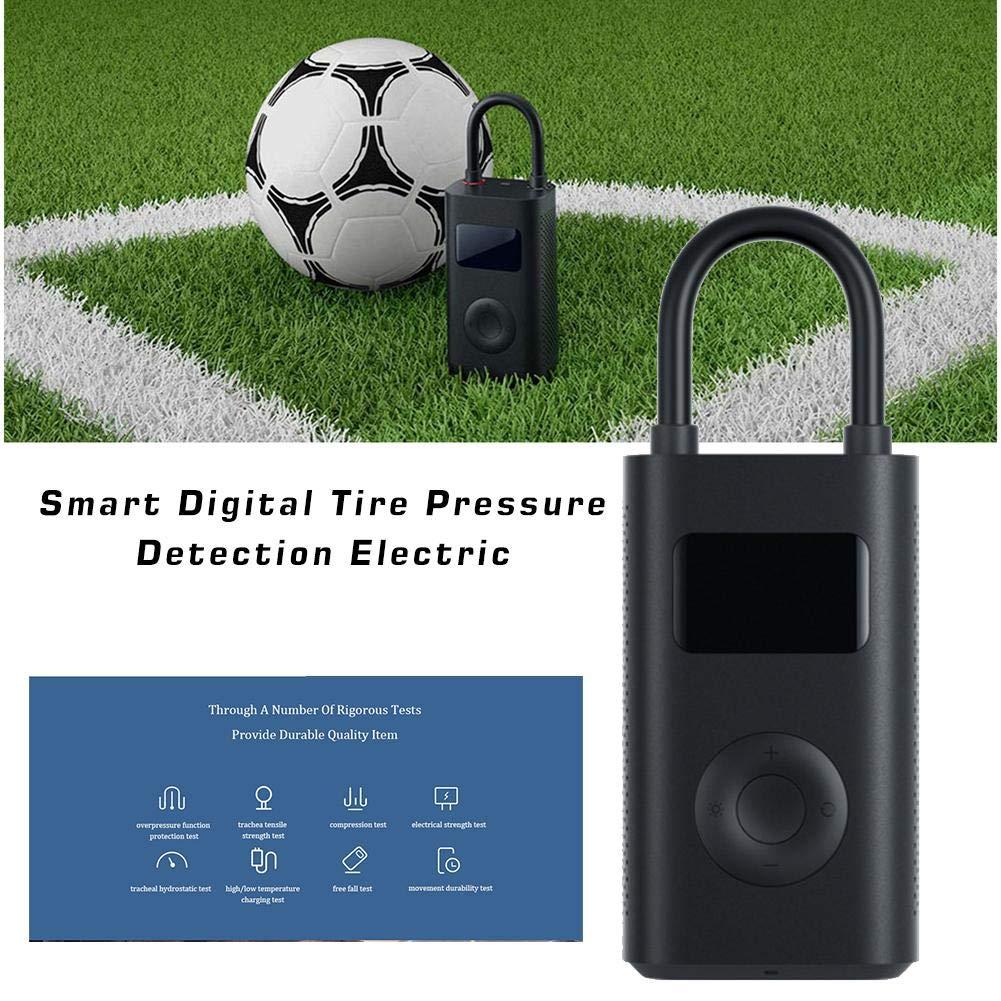 Jinclonder Pompe /électrique de gonfleur /électrique de d/étection de Pression de Pneu num/érique Portable Intelligente pour Xiaomi Mijia v/élo//Moto//Voiture//Football