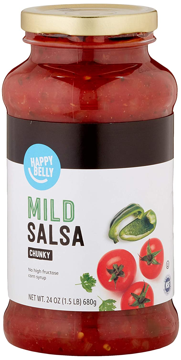 Amazon Brand - Happy Belly Mild Chunky Salsa, 24oz (Previously Solimo)