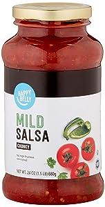 Amazon Brand - Happy Belly Mild Chunky Salsa, 24oz (Previously Solimo)