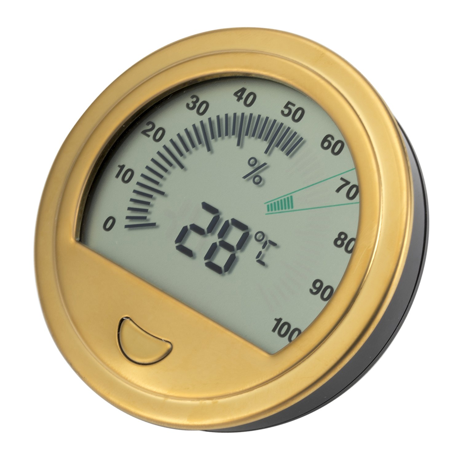 XIFEI new stainless steel cigar case Temperature and humidity meter High accuracy Thermometer