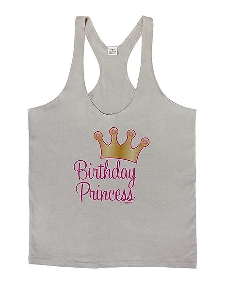 5c6b0a6ce6f24f Amazon.com  LOBBO TooLoud Birthday Princess - Tiara Mens String Tank Top   Clothing