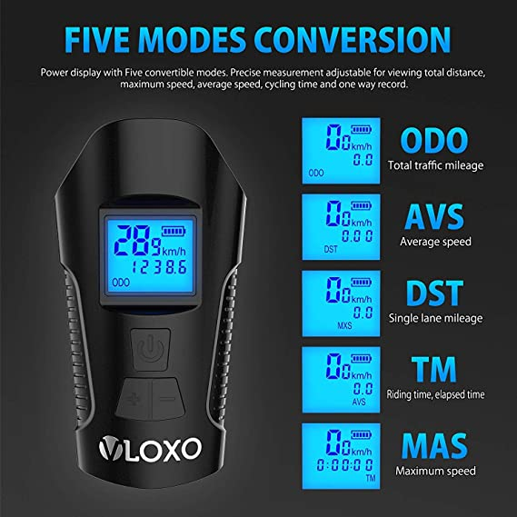 Amazon.com : VLOXO Speedometer Bike Computer Bike Light Odometer Waterproof Bicycle Computer with LCD Display Multi - Function Cycling Headlight and ...