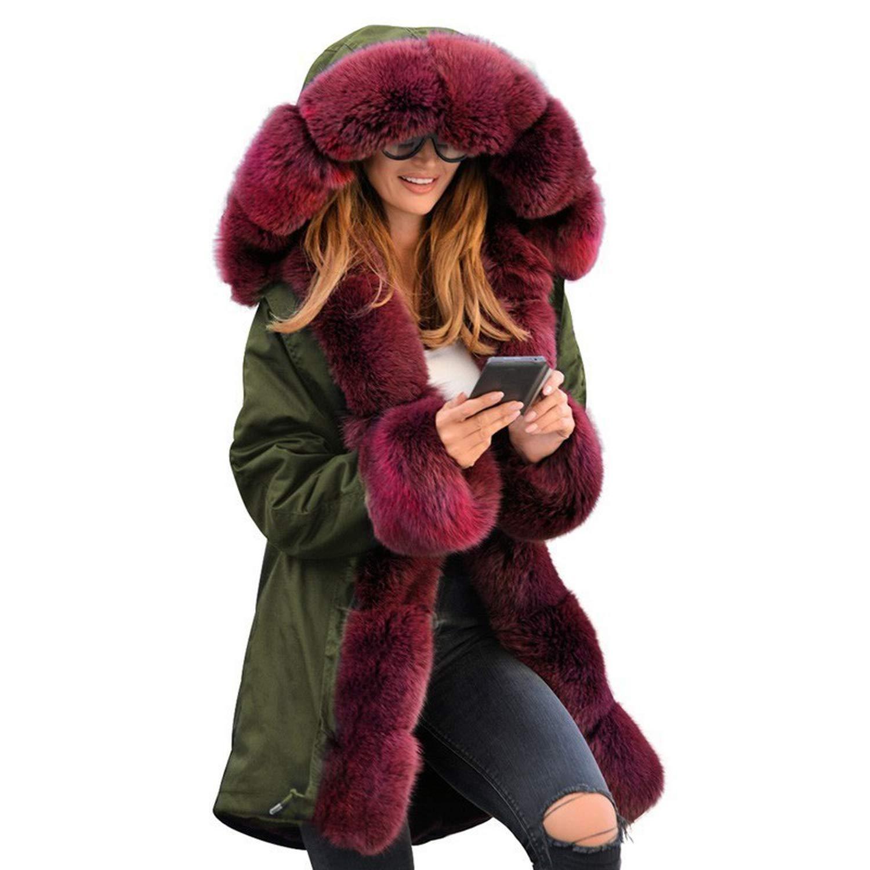 AA0938 Green 2018 Winter et Women Cotton Wadded Fur Hooded Coat Casual Winter Coats Jaqueta Feminina
