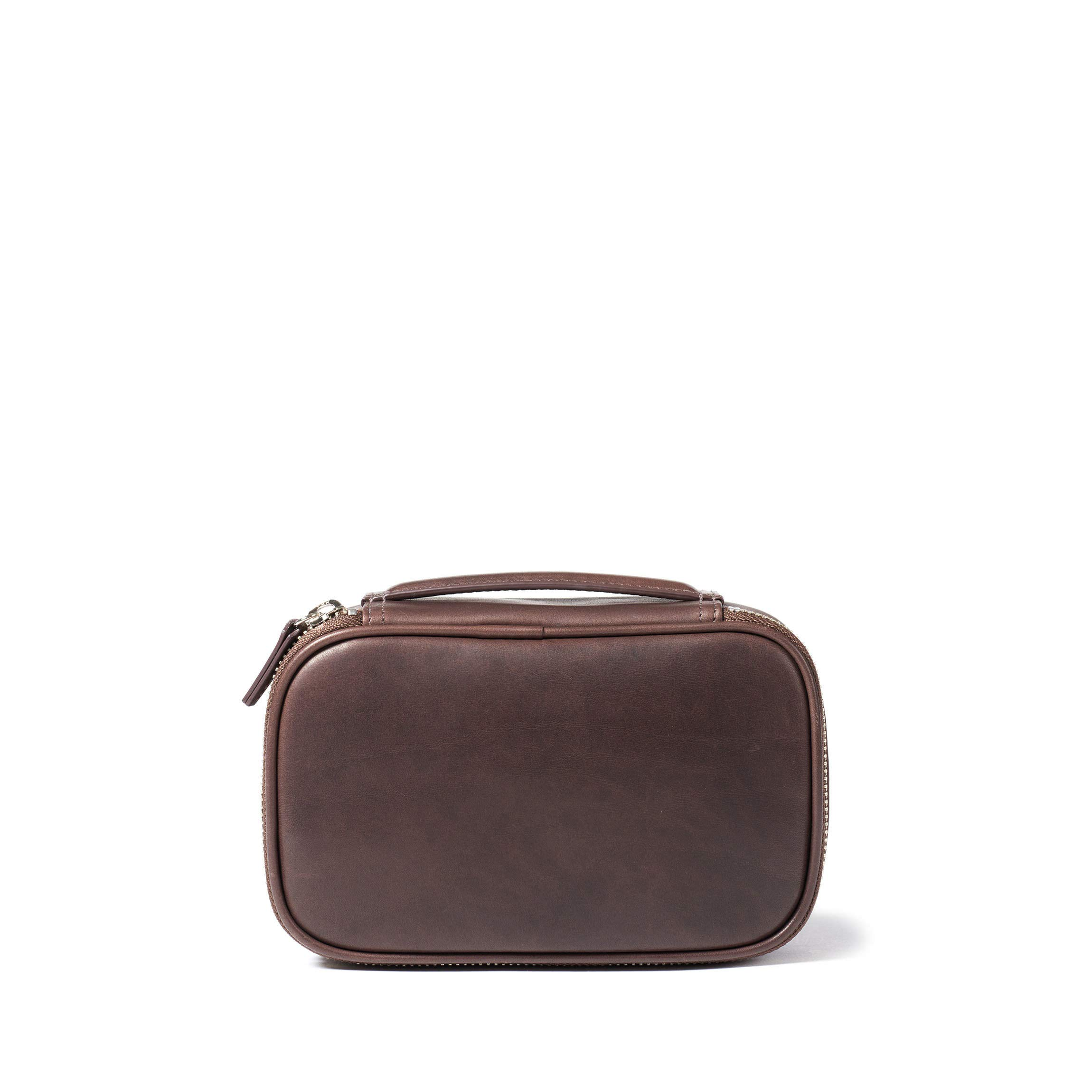 Leatherology Small Travel Organizer - Full Grain German Leather Leather - Mahogany (brown)