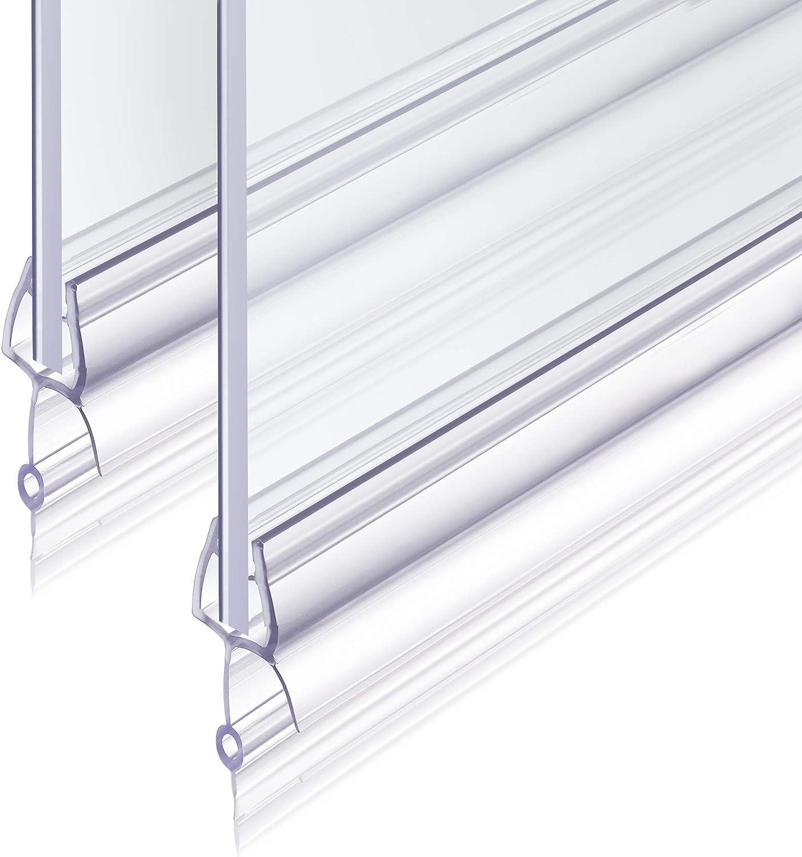 Junta Para Mampara de Ducha 2x100cm Revspoir se Ajusta Perfectamente a la Puerta de Vidrio de Goma Mampara Ducha 4/5/6 mm Fácil Montaje