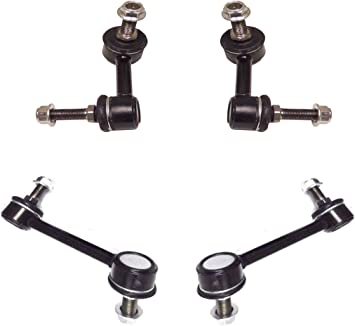 LSAILON 2pcs Front Sway Bar End Links Kit Fit for 2002-2003 Chevy Trailblazer Chevy Trailblazer EXT 2002-2003 GMC Envoy 2002-2003 GMC Envoy XL 2003 Isuzu Ascender 2002-2003 Oldsmobile Bravada
