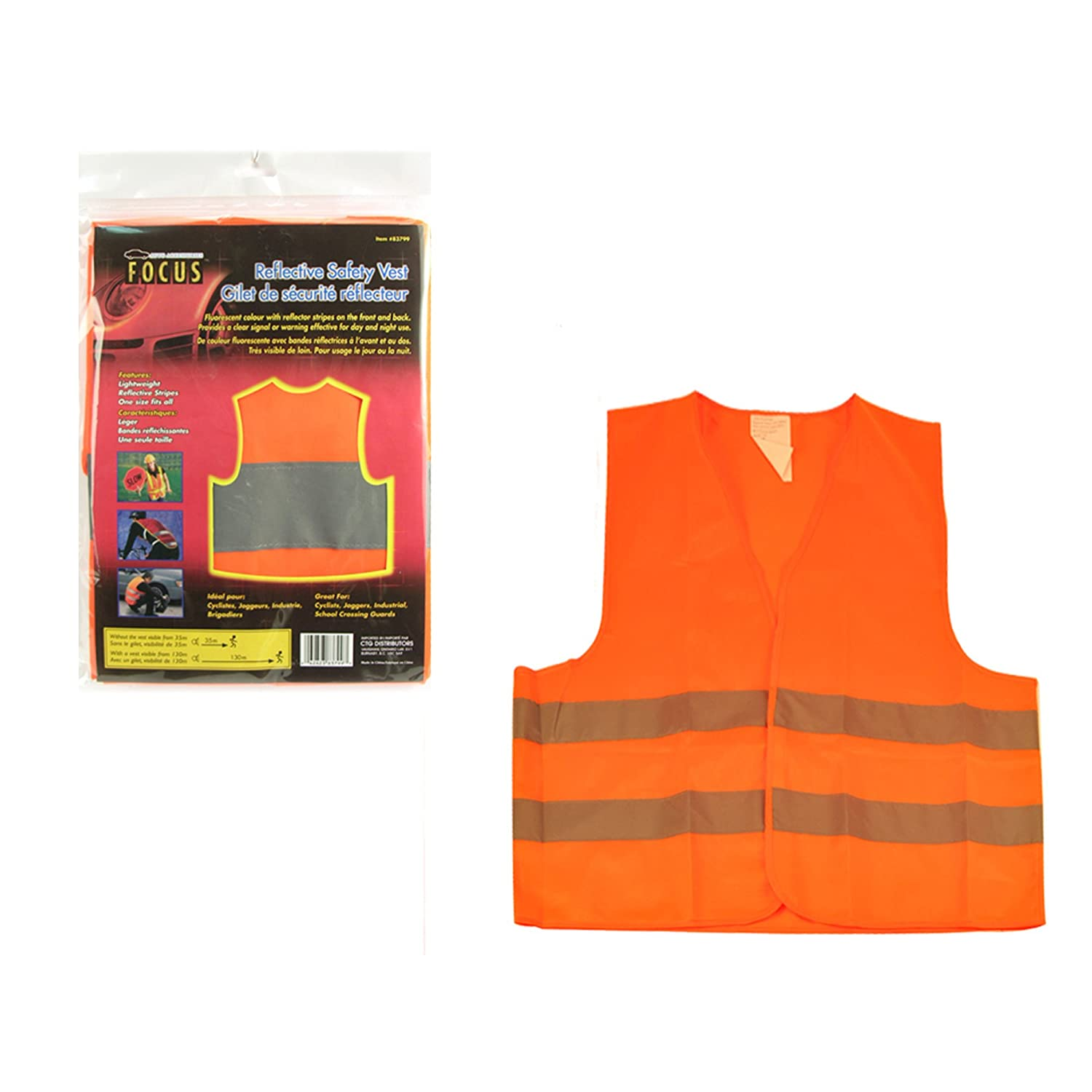 Focus Auto 83799 Reflective Safety Vest