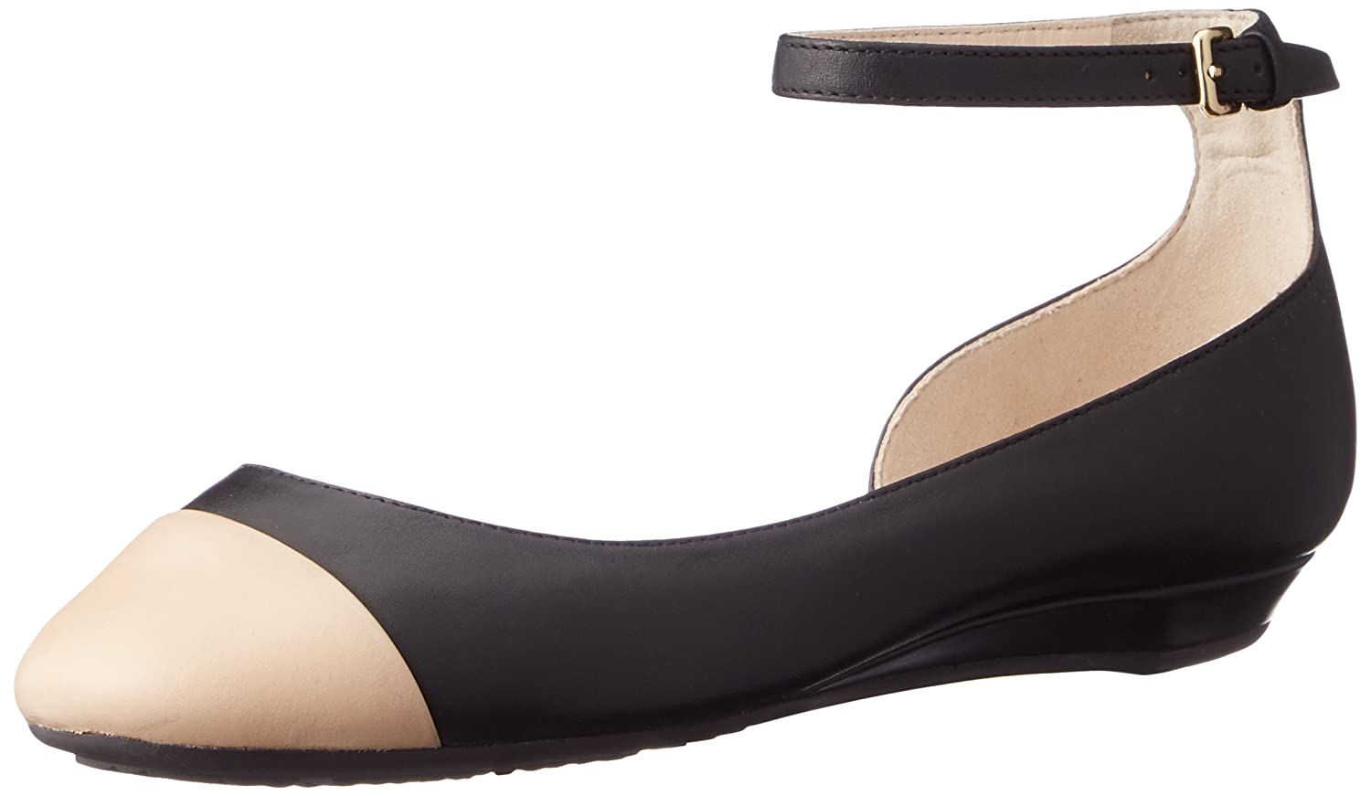 Cole Haan Women's Dixie Ballet Flat B071P26WNT 5 B(M) US|Black/Nude Leather