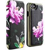 Official TED BAKER® AW16 iPhone 6 / 6S Case - Luxury Folio Case / Cover in Flower Design for Women with Built-In Interior Mirror for the Apple iPhone 6 and iPhone 6S - VENECE - Citrus Bloom Black