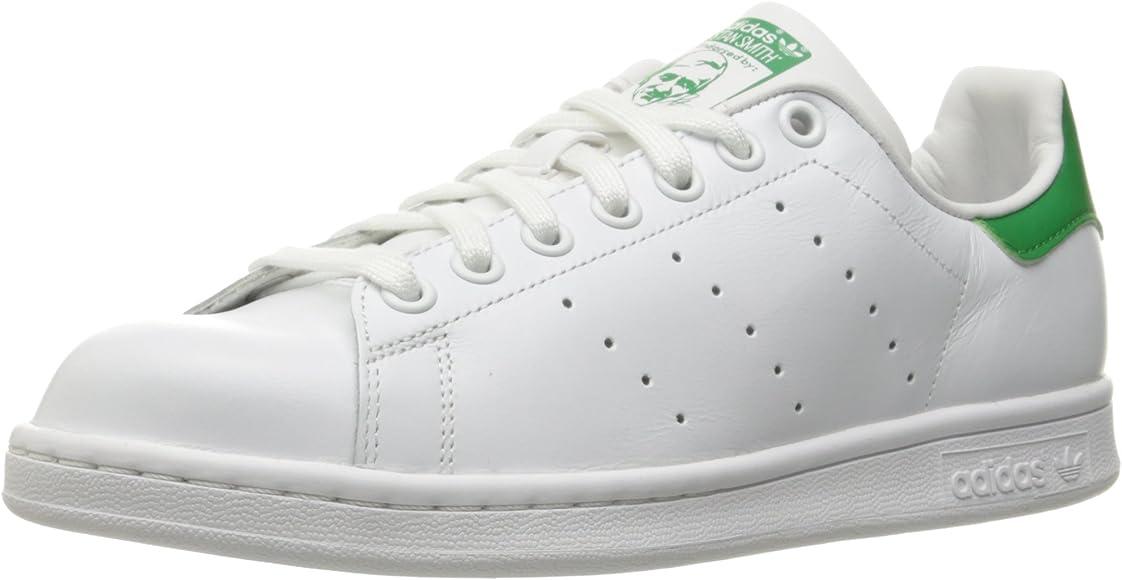 a45415881ec adidas Originals Women's Stan Smith Shoe, Footwear White/Footwear White/ Green, 5