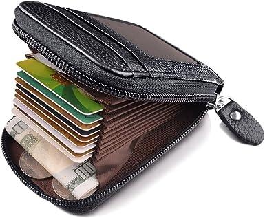Coin Pocket Purse for Men Credit Card Holder Leather Mens Wallet Money Clip Color : Black, Size : 21cm3cm12cm FRID Blocking Wallet
