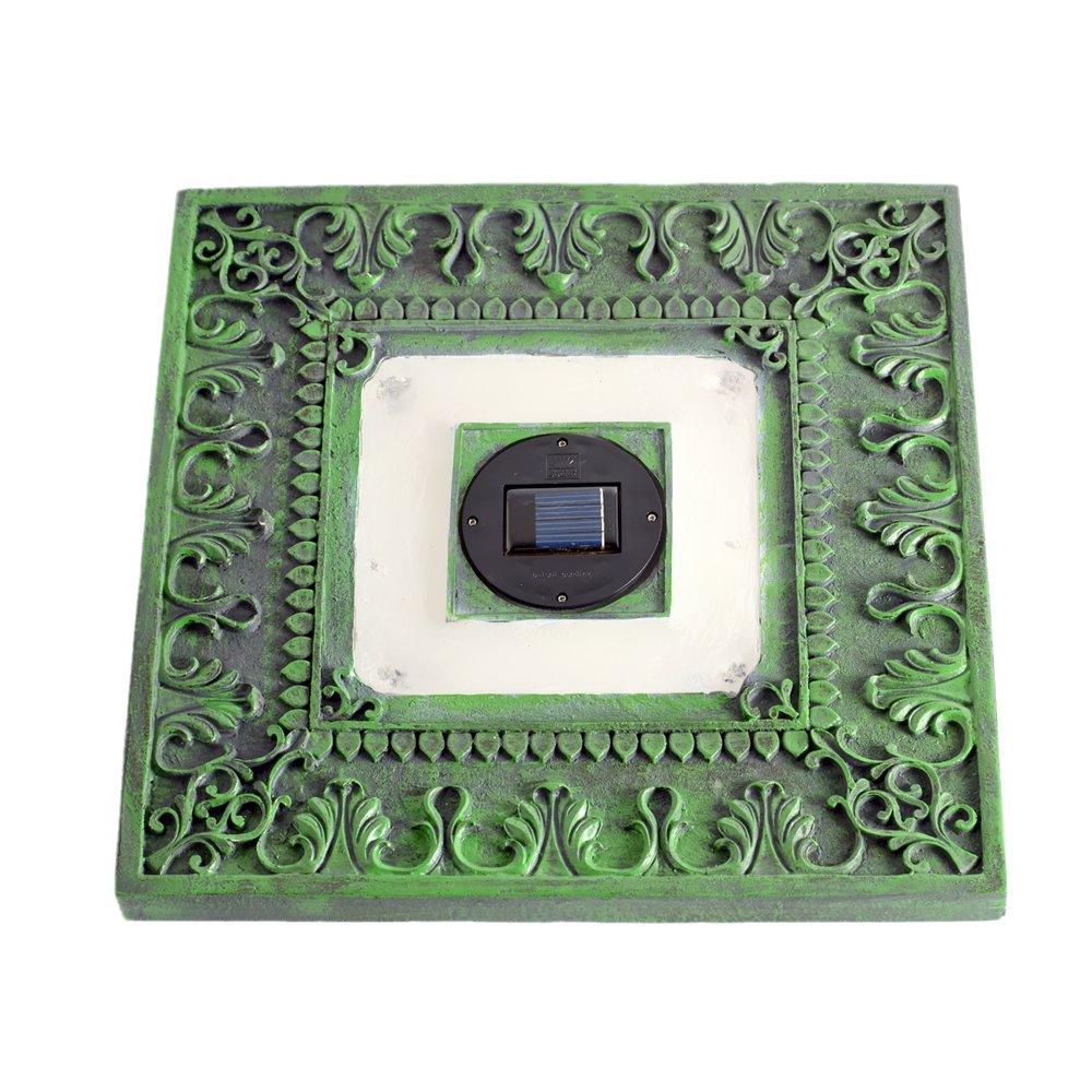 Homebrite Solar 33840/3 Power Stepping Stones, Square, Garden Green