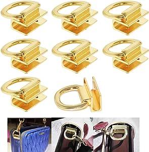 FAFAHOUSE 8 Pack Suspension Clasp for Purses Handbags Zinc Alloy Die Casting Handbag Hardware Accessories