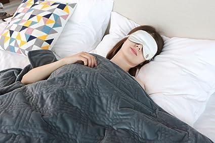 Manta de peso de YnM para tardar menos en conciliar el sueño, ideal para tratar la ...